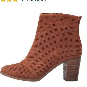NWT Toms | Lunata Cinnamon Suede Perforated Bootie